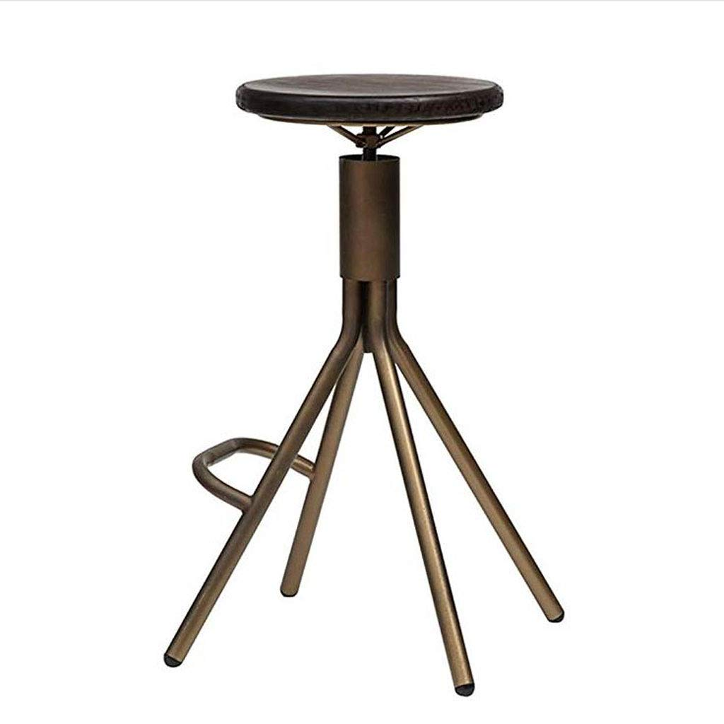Barstools, Bar Stool Retro Bar Stool Coffee Bar Chair Iron Bar Stool High Pole Chair Retro redating Lift Bar Stool Black