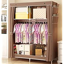 GL&G Non Woven Folding Practical Portable Clothes Storage Rack Closet Wardrobe Home decoration finishing,A,69'' *45''