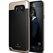 Galaxy Note 5 Case, Caseology [Envoy Series] Slim Premium PU Leather Dual Layer Protection Luxury Cover [Carbon Fiber Black] for Samsung Galaxy Note 5 (2015)