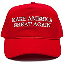 Back To Back World War Champs Make America Great Again Embroidered Donald Trump 2016 Cloth & Braid Hat (MAGA_Red)
