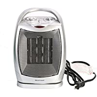 Space Heater 750W/1500W ETL Listed Oscillating Quiet Ceramic Heater with Adjustable Thermostat, Portable Electric Heater Fan with Overheat Protection and Carrying Handle