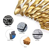 COMOWARE Titanium Twist Drill Bit Set - 13 Pcs Hex