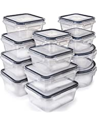 [12-Pack] Food Storage Containers with Lids - Plastic Food Containers with lids - Plastic...