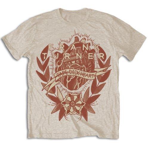 ly Liscenced Product Men's Frank Turner Tape Deck Heart T-Shirt