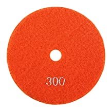 Nixikoo® Superior Diamond Wet Polishing Pads Disc for Granite Marble Concrete Stone Buffing Polishing,Diameter 5 inch /125mm,Thickness 3mm / 0.11 inch (300)