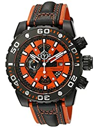 GV2 by Gevril Men's 1402 Polpo Analog Display Swiss Quartz Black Watch