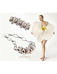 18 ct White and Rose Gold Plated Bracelet Luxury Crystals from Swarovski