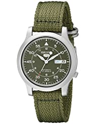 Seiko Men's SNK805K2 Automatic Green Dial Green Fabric Strap Watch