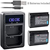 2pcs NP-FZ100 Z Series Battery Pack + USB Charger for NPFZ100, BC-QZ1 and Sony Alpha 9, Sony A9, Sony Alpha 9R, Sony A9R, Sony Alpha 9S, Sony A7RIII A7R3, Sony a7 III Digital Camera