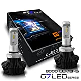 BPS Lighting G7 LED Headlight Bulbs Kit w/Clear Arc Beam 50W 8000LM 6000K - 6500K White Philips LED Headlight Conversion for Replace Halogen Bulb Headlights 2 Yr Warranty - (2pcs/set) (9006/HB4, 6500K)