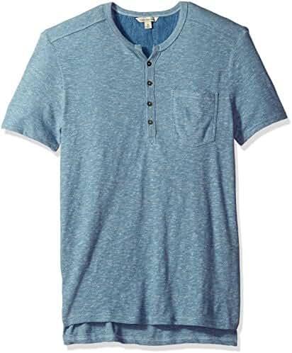 Calvin Klein Jeans Men's Short Sleeve Slub Henley Shirt