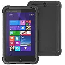 HP Stream 8 Case - Poetic [Turtle Skin Series] - [Corner/Bumper Protection] [Grip] [Sound-Amplification] Protective Silicone Case for HP Stream 8 Black (3-Year Manufacturer Warranty From Poetic)
