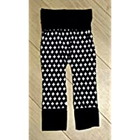 Black and White Unisex Grow With Me Harem Pants Size 12-36 Months