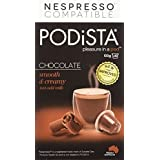 PODiSTA Hot Chocolate Smooth and Creamy Nespresso Compatible Capsules, 10-Count