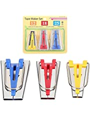 3Pcs Bias Tape Maker Kit, Sewing Bias Makers 12 mm, 18 mm, 25 mm Quilting Sewing Binding Tools for Sewing DIY Crafts Nice and Professional