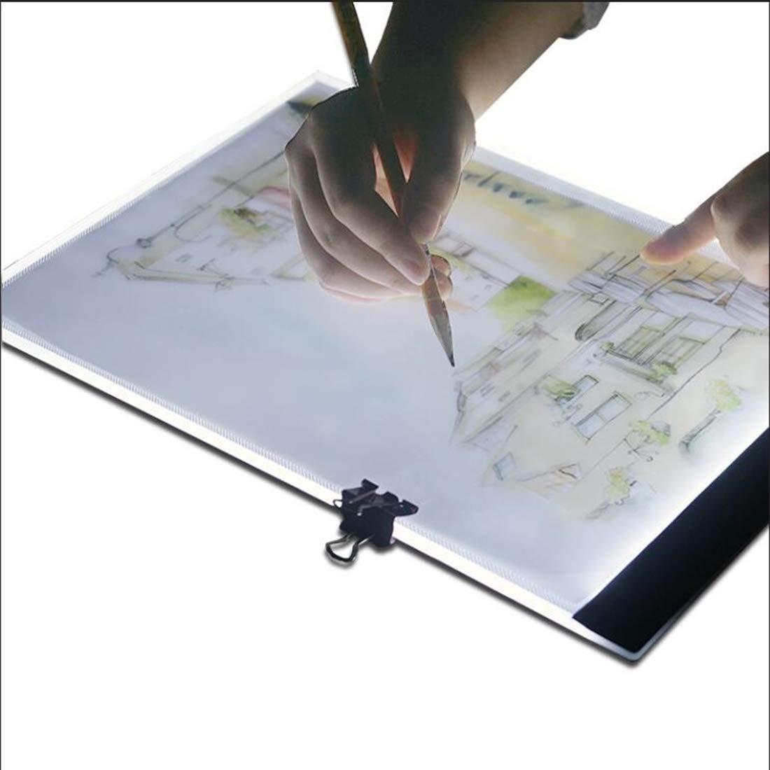 Bella Cartella USB portatile ultra-sottile formato A4, artigianato LED che traccia la stampa del modello di scatola luminosa, adatto per disegnare il disegno.