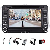 EinCar Double Din Car Stereo GPS Navigation 7 Touch Screen Car DVD Player for VW/Jetta/Golf In Dash Bluetooth Headunit with CANBUS AM FM Radio Multimedia Receiver