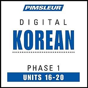 Korean Phase 1, Unit 16-20 Hörbuch
