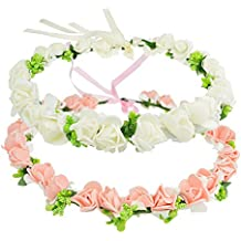 DRESHOW 3 Pack Flower Crown for Women Berries Wreath Boho Headband Festivals Wedding