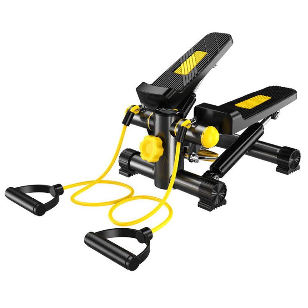 Lizichun Stepper - Haushalt Stumme Mini Weight Loss Stepper Fitness Sport Anti-Rutsch-Sicherheit Hydraulische Stepper-Schwarz + Gelb