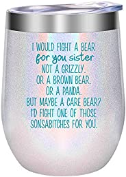 Sisters, Sister Gifts from Sister - Funny Gifts for Sister, Sister in Law - Sister Gifts for Women - Mothers D