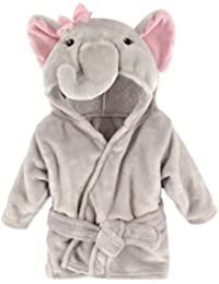 Animal Plush Bathrobe, Pretty Elephant, 0-9 Months
