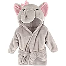 Hudson Baby Animal Plush Bathrobe, Pretty Elephant, 0-9 Months
