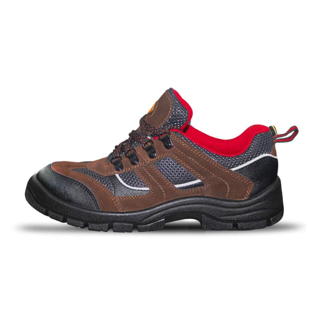 Fuxitoggo Mens-Arbeitsversicherungs-Schuhe Punture-Widerstand Anti Anti Anti statische Stahlzehen-Schuhe (Farbe   Braun Größe   EU 41) e2fced