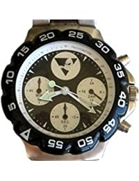 """Mighty Ducks"" Collectible Retro Sports Theme 4 Eye Chrono Style Watch with Stainless Steel Band"