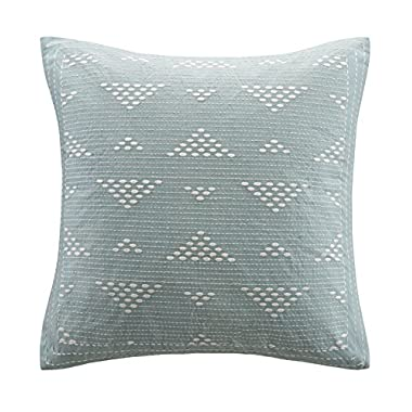 INK+IVY Cario Embroidered Square Pillow, Blue