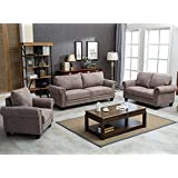 Harper&Bright Designs Living Room Sofa Set Collection Taupe (Chair&Loveseat&Sofa)