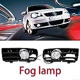 FidgetFidget Bumper Grille DRL-Fog Light LAMP W/Switch for 99-04 VW Golf MK4 Front