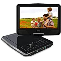 SYNAGY 10.1inch Portable DVD Player Portable CD Player with Screen & SD Card Slot for Kids Adults Seniors & Cars (Black)