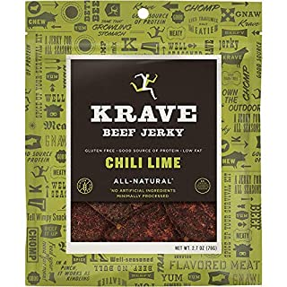 KRAVE Jerky Gourmet Beef Cuts, Chili Lime, 2.7 Ounce (Pack of 8)