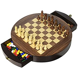 John N. Hansen Walnut Round 3 in 1 Game Set