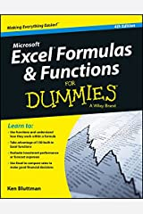 Microsoft Excel Formulas & Functions For Dummies, 4Ed Paperback