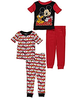 Mickey Mouse Clubhouse Toddler Boy 4 PC Pajama Set
