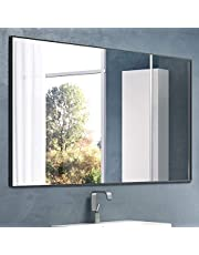 """Nitin Large Modern Wall Mirror, 36"""" x 24"""" Rectangle Wall Mounted Mirror Hangs Horizontal or Vertical for Bedroom / Bathroom"""