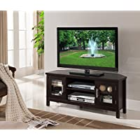 Kings Brand Furniture Wood TV Stand with Storage, Espresso