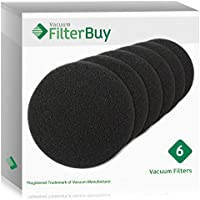 6 - Eureka DCF-26 (DCF26) Filters, Part # 68465a & 68465. Designed by FilterBuy to fit Eureka AirSpeed Upright Vacuum Cleaners.