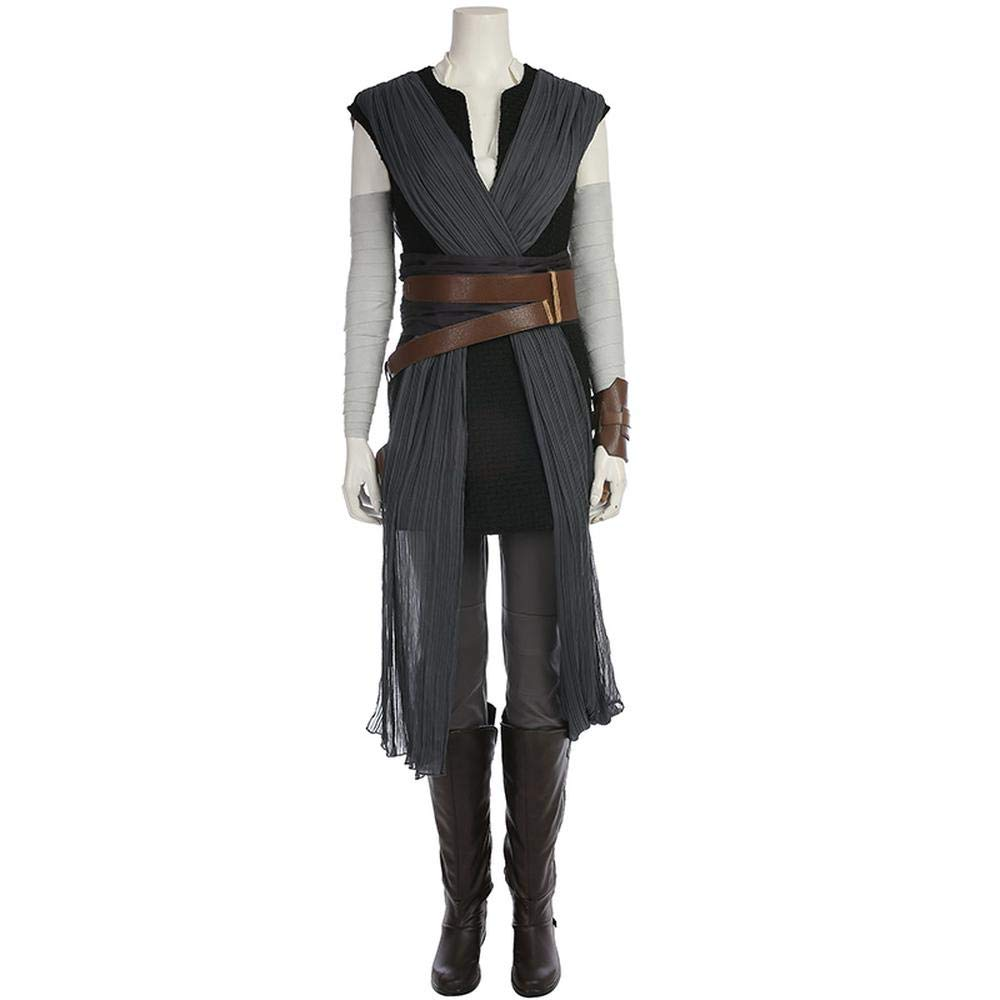 Full Set (Remark sautope Dimensione) Medium Cosplay Rey estrella guerras cielowalker Rise Cos Abgreeliamento Donna Adulta Set Completo di Vestiti Full Set (Remark sautope Dimensione)-L