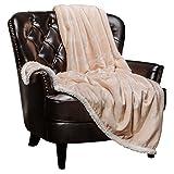 "Chanasya Super Soft Ultra Plush Healing Thoughts Warm Hugs Posivite Energy Comfort Caring Gift Ivory Throw Blanket ( 50"" x 65"") - Ivory White Gift Blanket"