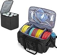 DSLEAF Disc Golf Bag Holds 25 Disc Capacity, with Cooler Bag, Extra Storage Pockets