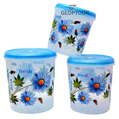 GT Gloptook Plastic Kitchen Storage Container Set, 3 Pieces (5 kg, 7 kg, 10 kg) (Multi) gh Price & Reviews