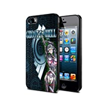 Ghost in the shell Cartoon Manga Game Gio6 Case Cover Protection for iPhone 5c Black Silicone