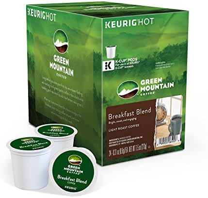 Green Mountain Coffee Keurig Single-Serve K-Cup Pods, Breakfast Blend Light Roast Coffee,  24 Count