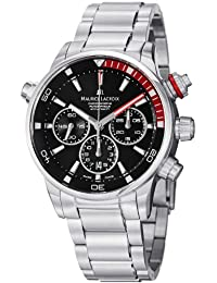 Men's PT6018-SS002330 Pontos Black Chronograph Dial Watch