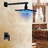Led Rain Shower Head Set Rozin Over-head LED Light 8