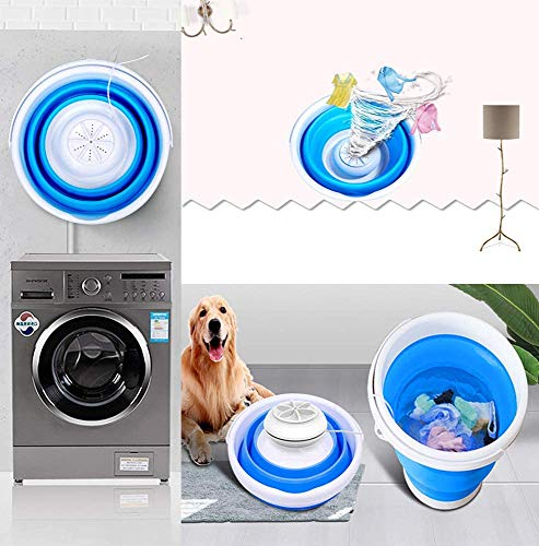 Portable Mini Turbo Washing Machine with Foldable Tub Compact Ultrasonic Turbine Washer Lightweight Travel Laundry Washer USB Powered Camping Apartments Dorms RV Business Trip Clothes