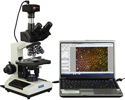 OMAX 40X-2000X Compound Advance Darkfield Trinocular LED Microscope with 14.0MP Digital Camera